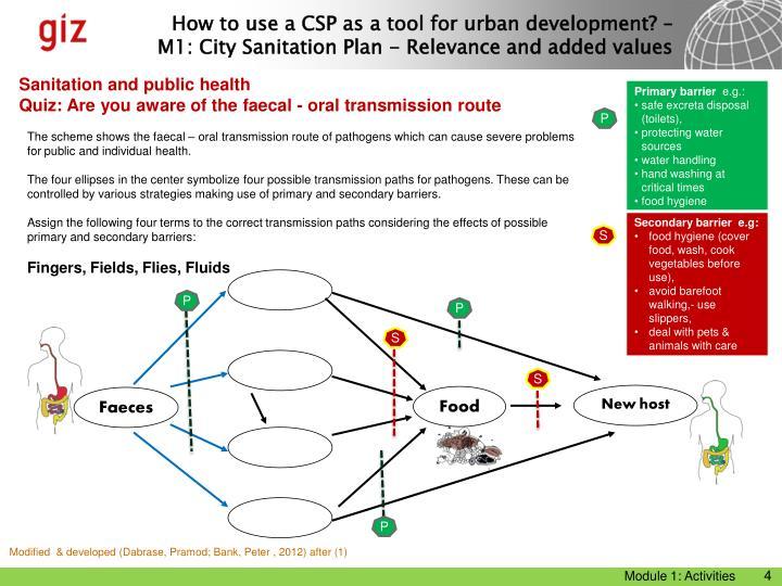 Sanitation and public health