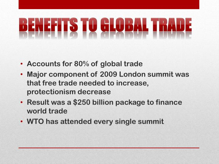 Benefits to Global Trade