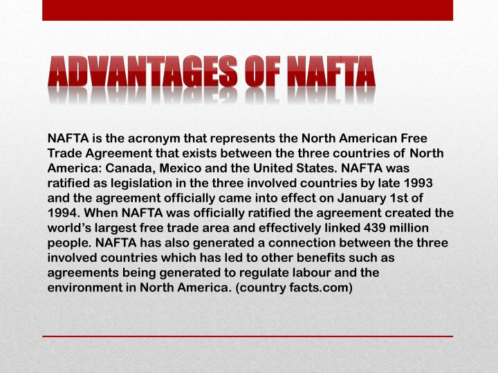 Advantages of NAFTA