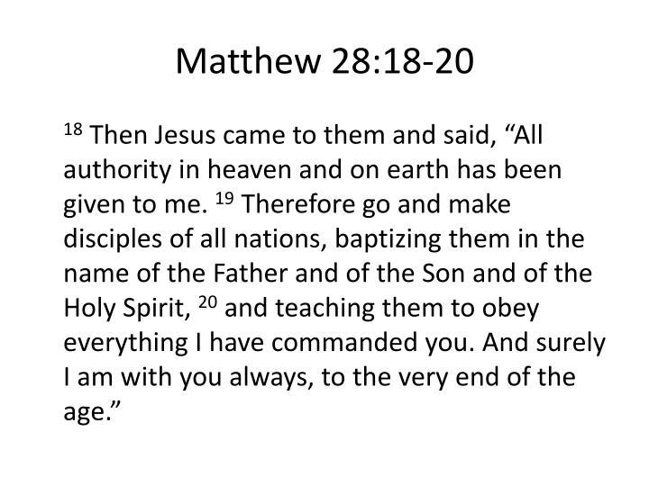 Matthew 28:18-20