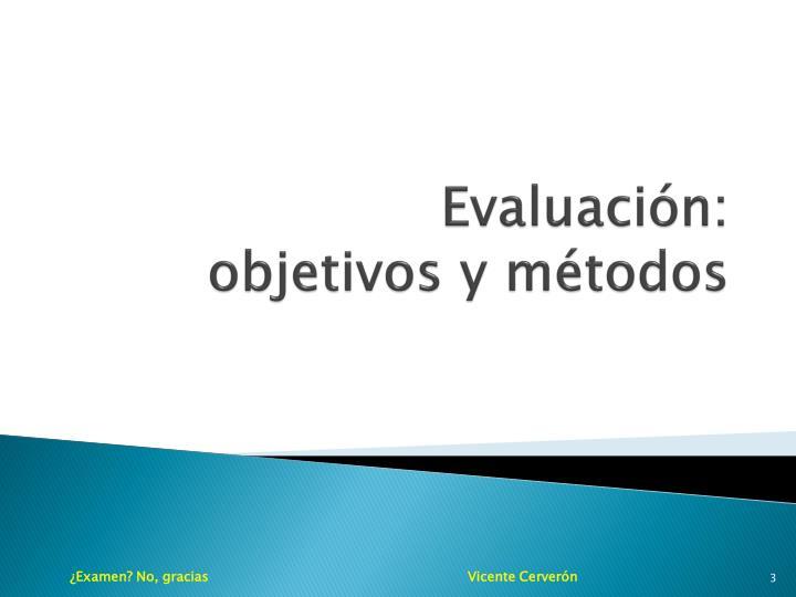 Evaluación: