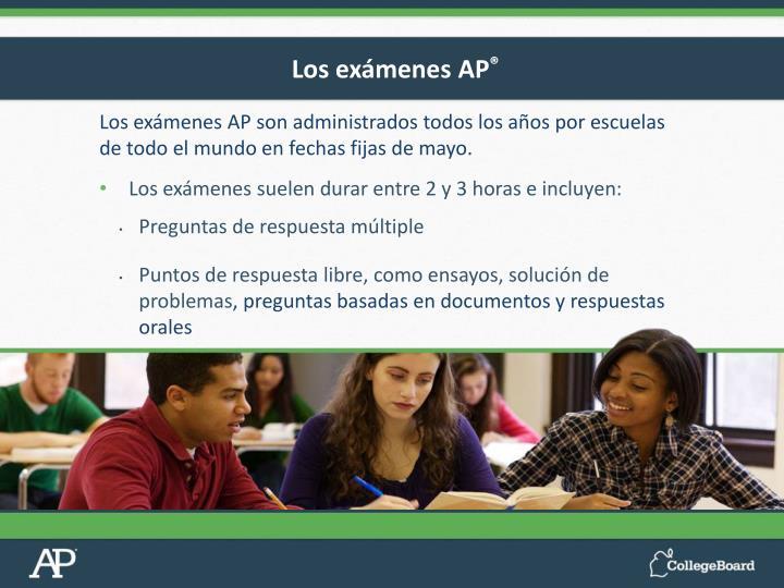 Los exámenes AP