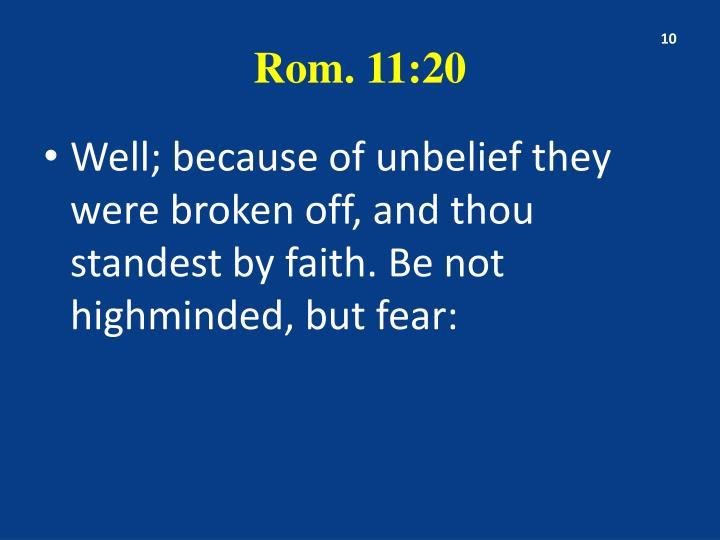 Rom. 11:20