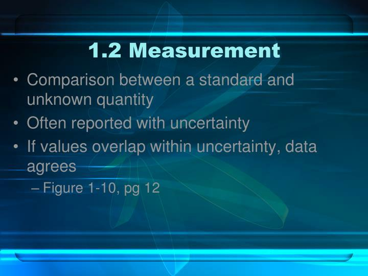 1.2 Measurement