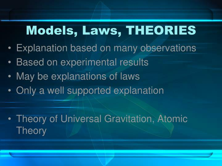 Models, Laws, THEORIES