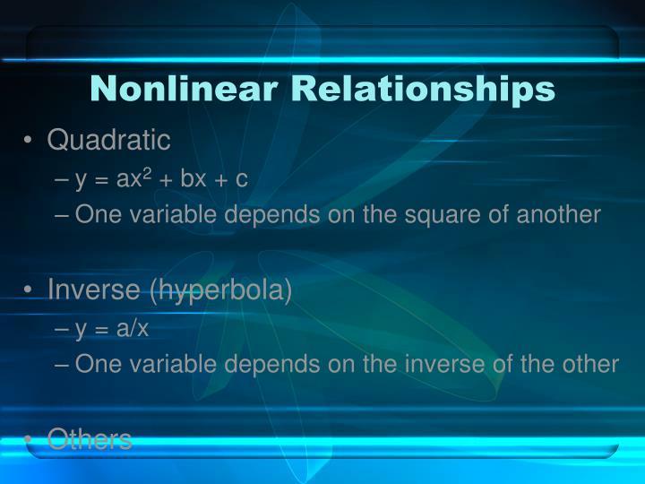 Nonlinear Relationships