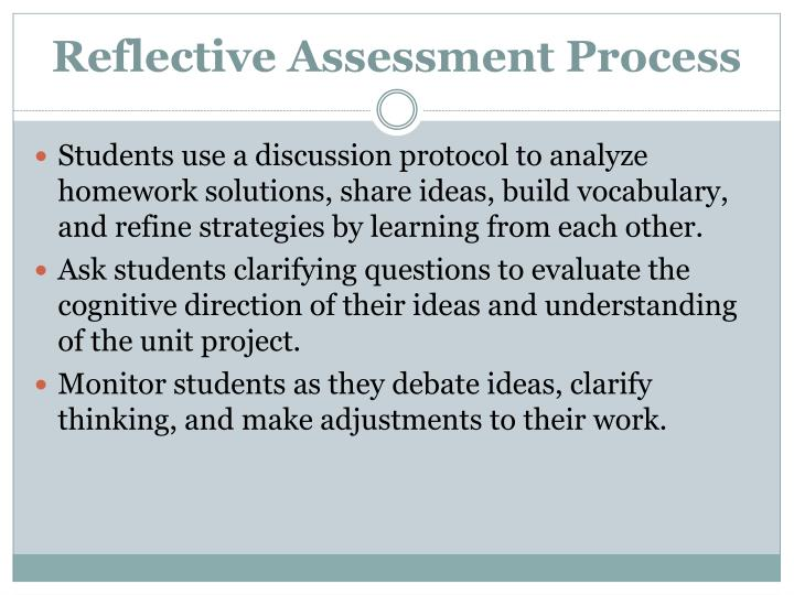 Reflective Assessment Process