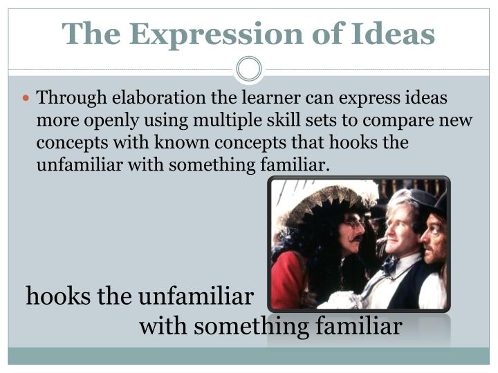 The Expression of Ideas