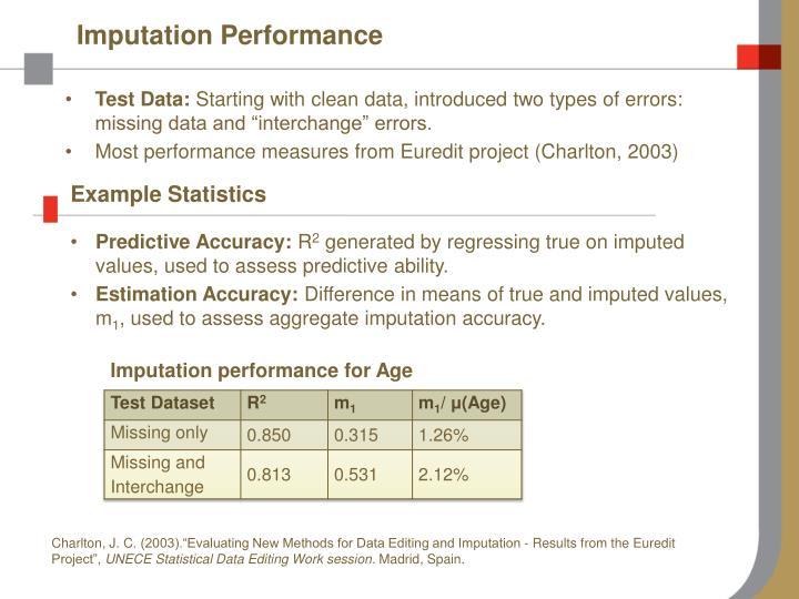 Imputation Performance