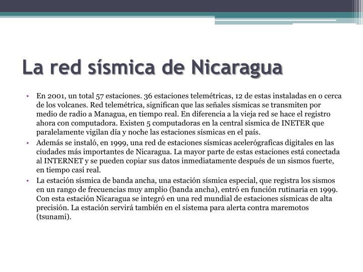 La red sísmica de Nicaragua
