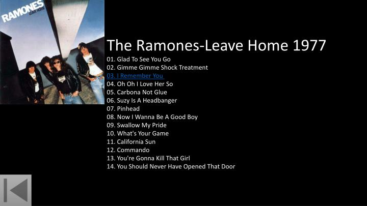 The Ramones-Leave Home 1977