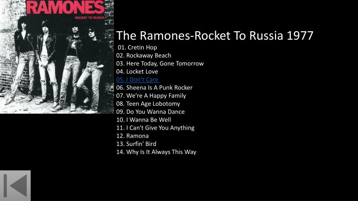 The Ramones-Rocket To Russia 1977