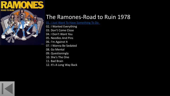 The Ramones-Road to Ruin 1978