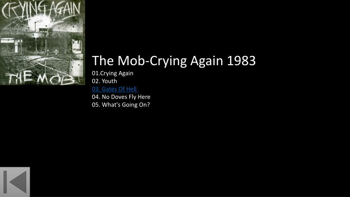 The Mob-Crying Again 1983