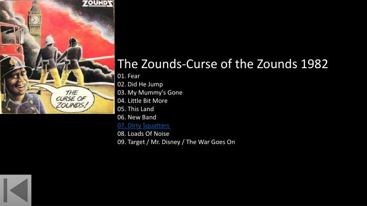 The Zounds-Curse of the Zounds 1982