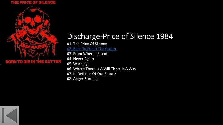 Discharge-Price of Silence 1984