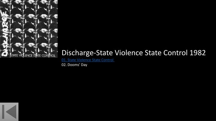 Discharge-State Violence State Control 1982