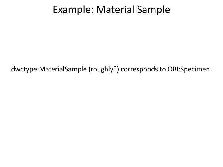 Example: Material Sample