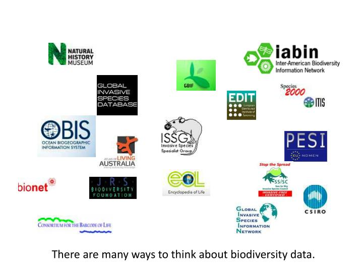 There are many ways to think about biodiversity data.