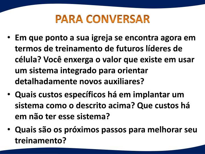 PARA CONVERSAR