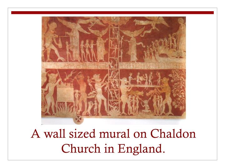 Ppt the catholic church in the middle ages powerpoint for Chaldon church mural