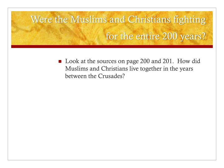 a look at the rivalry between the catholic church and muslims Catholic stand is an e-publication presenting essays and creative non-fiction, offering substantive resources with thoughtful insights into how to live the truth that the church teaches, owned by little vatican media.