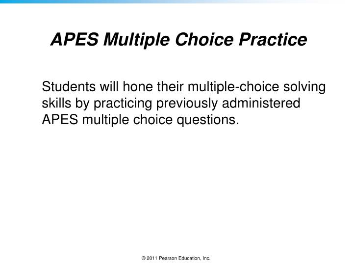APES Multiple Choice Practice