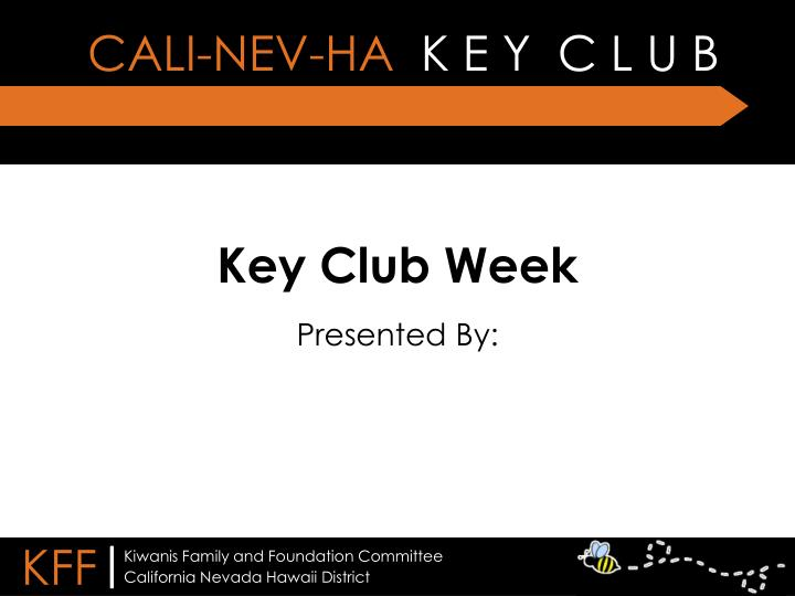 Key club week