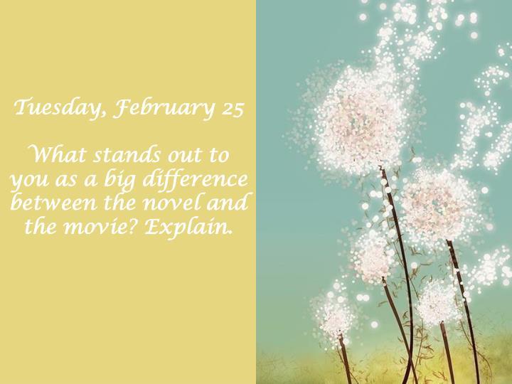 Tuesday, February 25