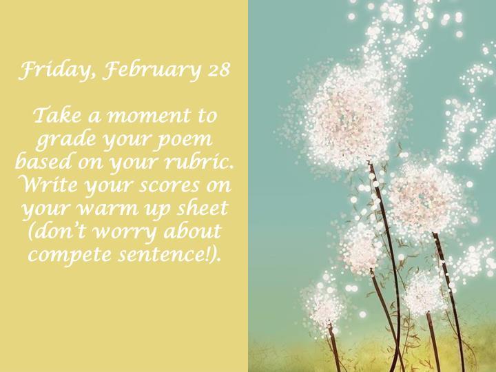 Friday, February 28