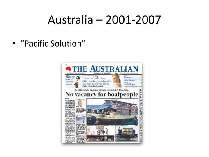 Australia – 2001-2007