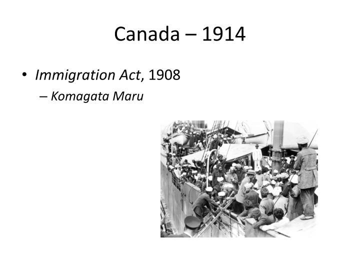 Canada – 1914