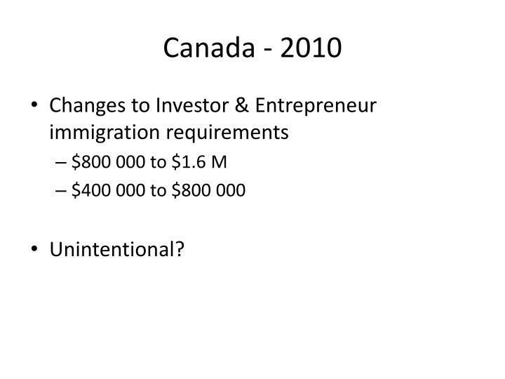 Canada - 2010