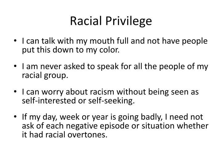 Racial Privilege
