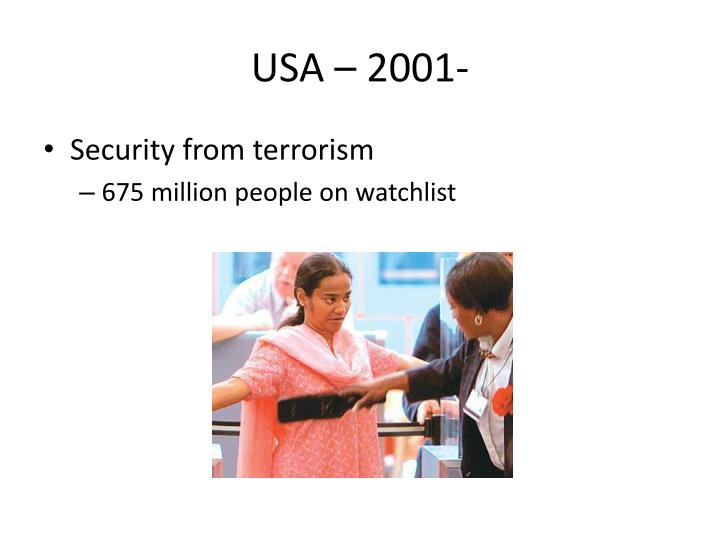 USA – 2001-