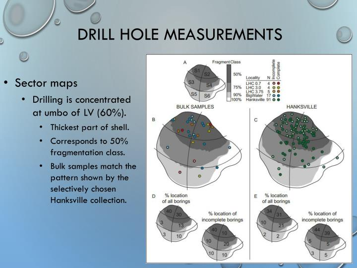 Drill Hole Measurements
