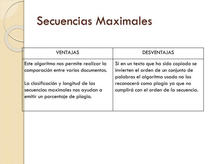 Secuencias Maximales