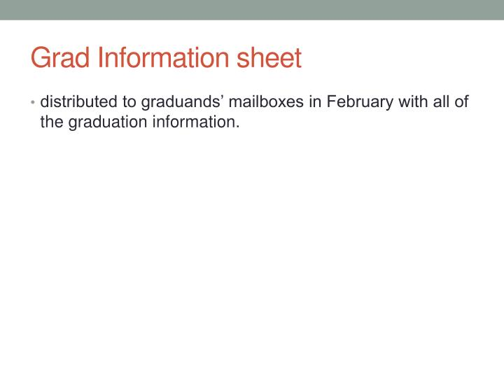 Grad Information sheet