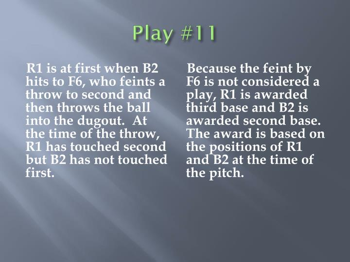 Play #11