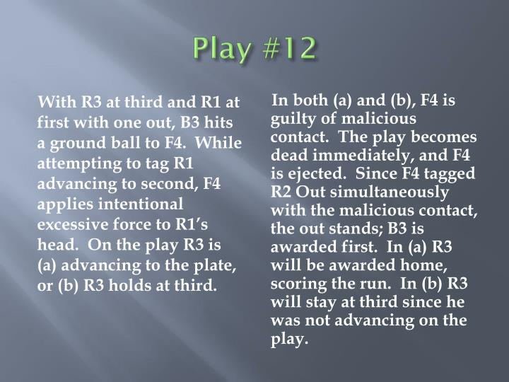 Play #12