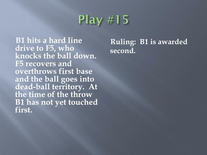 Play #15