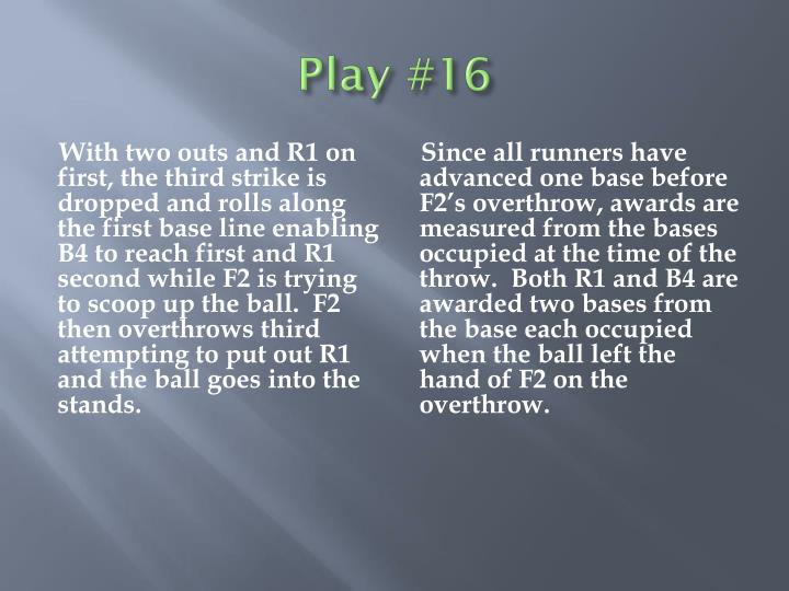 Play #16