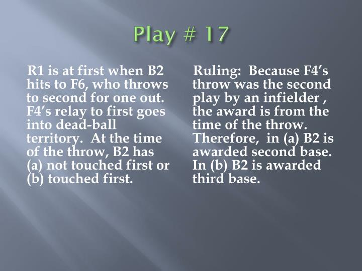Play # 17