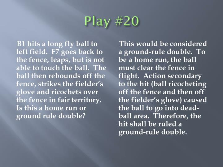 Play #20