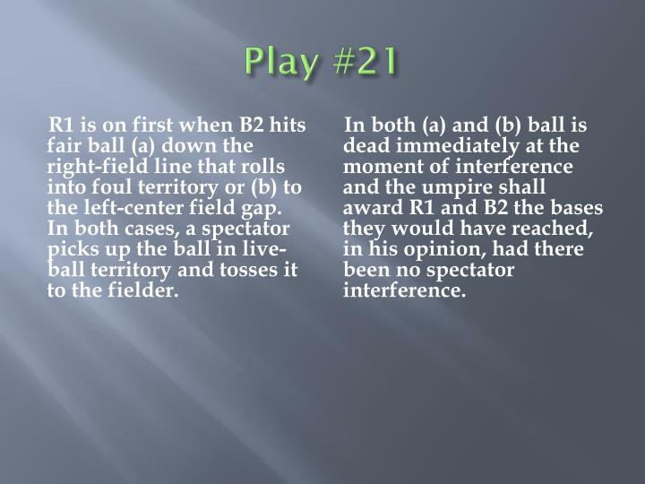 Play #21