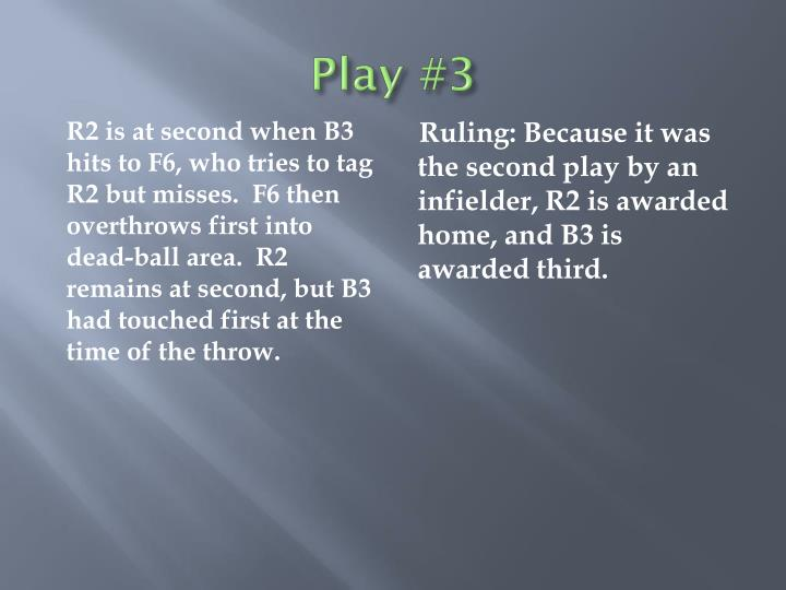 Play #3