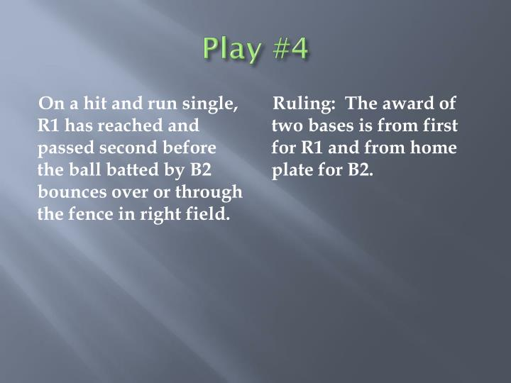 Play #4