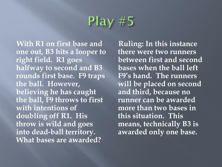 Play #5