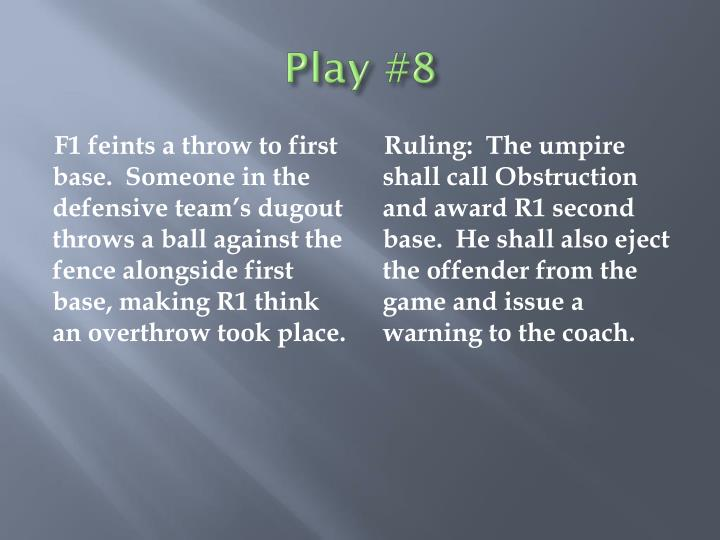 Play #8