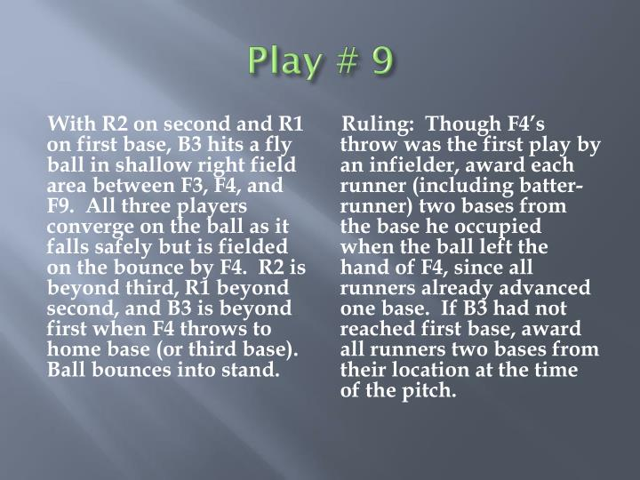 Play # 9